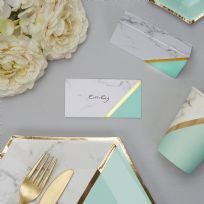 Mint Marble Place Cards (10)